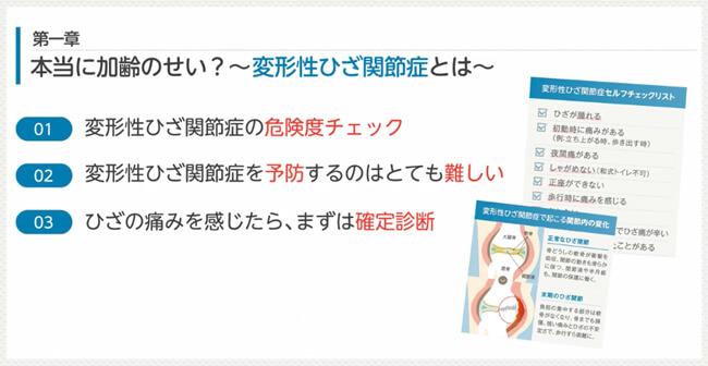 電子書籍「変形性膝関節症には最新治療がある」第一章の内容紹介